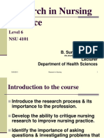 Research in Nursing Practice - Lesson 1