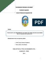 02.04.2015 Rendimiento de Mano de Obra Peru - Huancayo