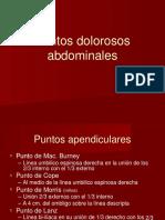 puntos dolorosos abdominales