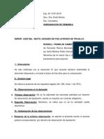 Subsano Observacion de Liquidacion Ramos