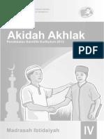 Buku Akidah Akhlak MI 4 Guru