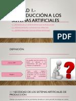 INTRODUCCIÓN A LOS SISTEMAS ARTIFICIALES DE PRODUCCIÓN