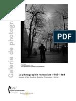La Photographie Humaniste 1945 1968 - Communique de Presse