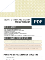 Effective Presentation Making Workshop