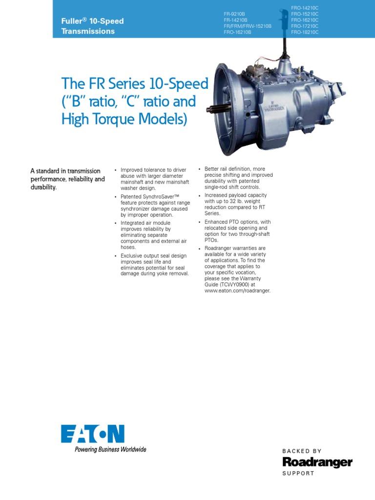 10speed Eaton | Transmission (Mechanics) | Machines