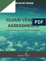 Cloud Vendor Assessment Checklist