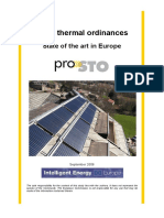 Solar Thermal Ordinances in Europe