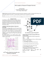 Evaluation of Path Lengths in Proposed Triangle Network