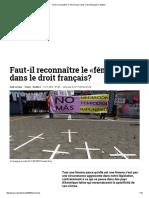 LORRIAUX, Aude,Faut-il Reconnaître Le «Féminicide» Dans Le Droit Français-2014_ Slate