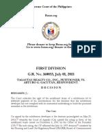 Tagaytay Realty v Gacutan | G.R. No. 160033, July 01, 2015