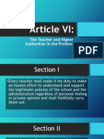 Article VI - Code of Ethics