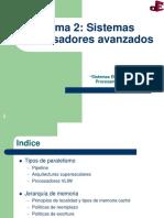 Tema 2 - Sistemas Procesadores Avanzados (1)