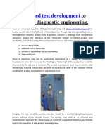 Advanced Test Development to Improve Diagnostic Engineering.