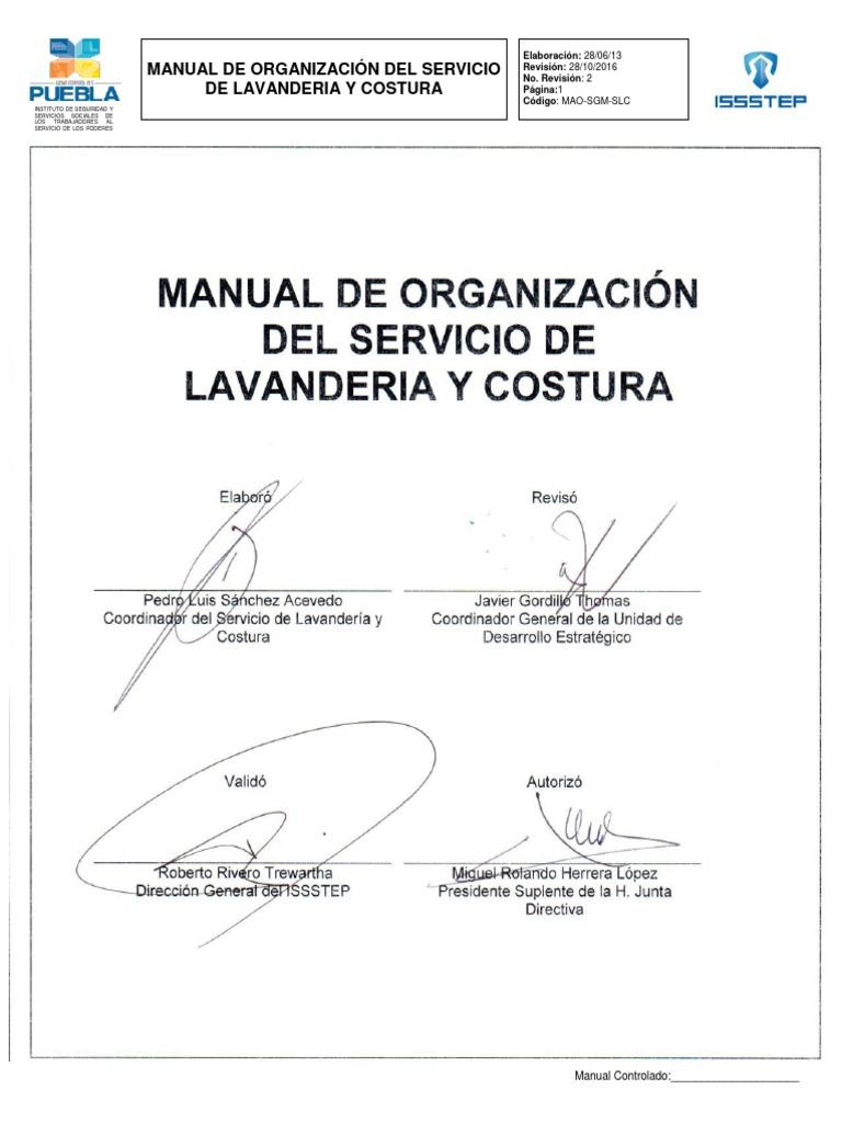 Tema 28 Organizacion Lavanderia y Costura