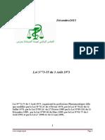 Loi n73 55modifier