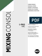 Rcf L-pad 10c - Manual de Utilizare - 40 Pag