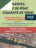 0-16 Puentes de Taray y Pisac Luego de La Maxima Avenida-Enero - 2010