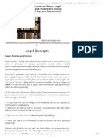 Jurisprudence Notes- Legal Concepts (Rights and Duties, Ownership and Possession) _ Desi Kanoon- Law, Economics and Politics