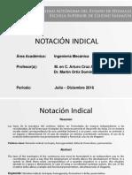 Notacion Indical