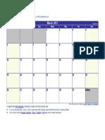 March 2017 Calendar.docx