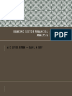 Banking Sector Financial Analysis