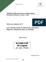 01026135 Soriano - Una Mirada Hacia La Institución Escolar (Ficha Nº2)
