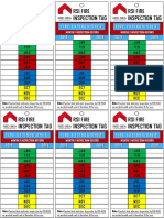 Fire Inspection Tags 2018-2019