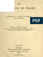 John Bates Clark, The Distribution of Wealth [a Theory of Wages, Interest and Profits]