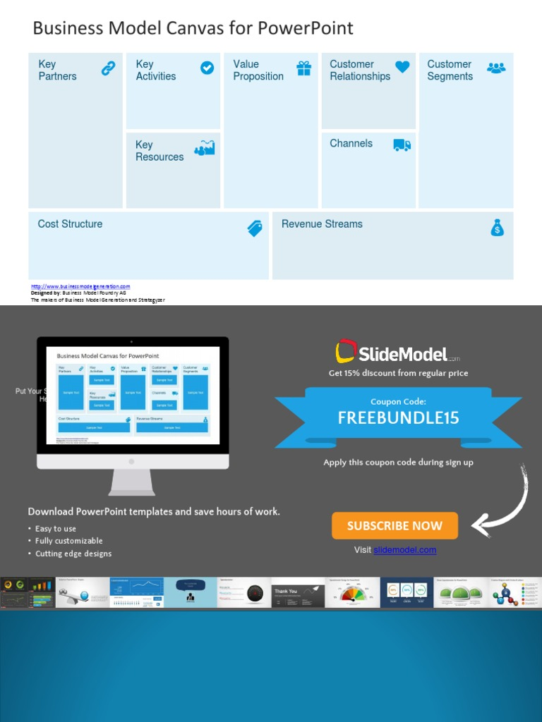 FF0001 - Free Business Model Canvas Template for PowerPoint [Autosaved]