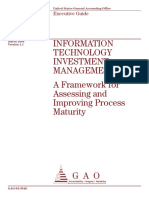 Information Technology Investment Management a Framework for Assessing and Improving Process Maturity Gaoreports-gao-04-394g