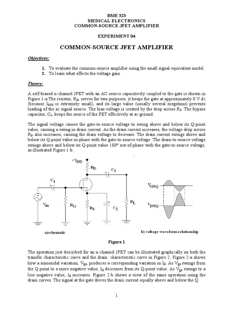 exp04   Field Effect Transistor   Amplifier
