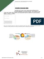 Bioquímica Celular - Revisão de Biologia Enem