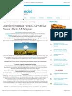 Una Nueva Psicología Positiva... La Vida Que Florece - Martin E. P. Seligman | Tecnología Social