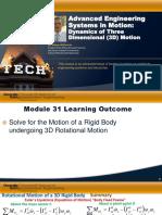 Module 31 3D Dynamics