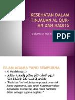Kesehatan Dalam Tinjauan Al Qur-An Dan Hadits
