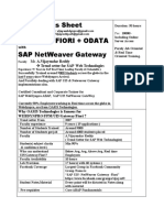 SAP UI5 Netweaver Gateway Fiori Syllabus Sheet (1)