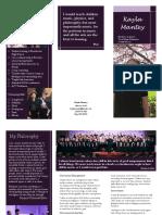 teacher brochure