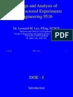 DOE Course - Parts 1-4