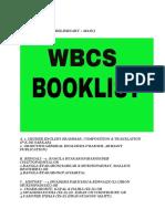 Wbcs Booklist for Ben Ver