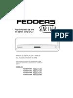 Fedders Split Fs23cstarh - Fs30cstarh - Fs45cstarh - Fs60cstarh - Fs23fstarh - Fs30fstarh - Fs45fstarh - Fs60fstarh