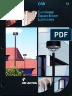 Kim Lighting CSB Curvilinear Square Beam Brochure 1990