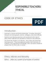 Presentation on Code of Ethics