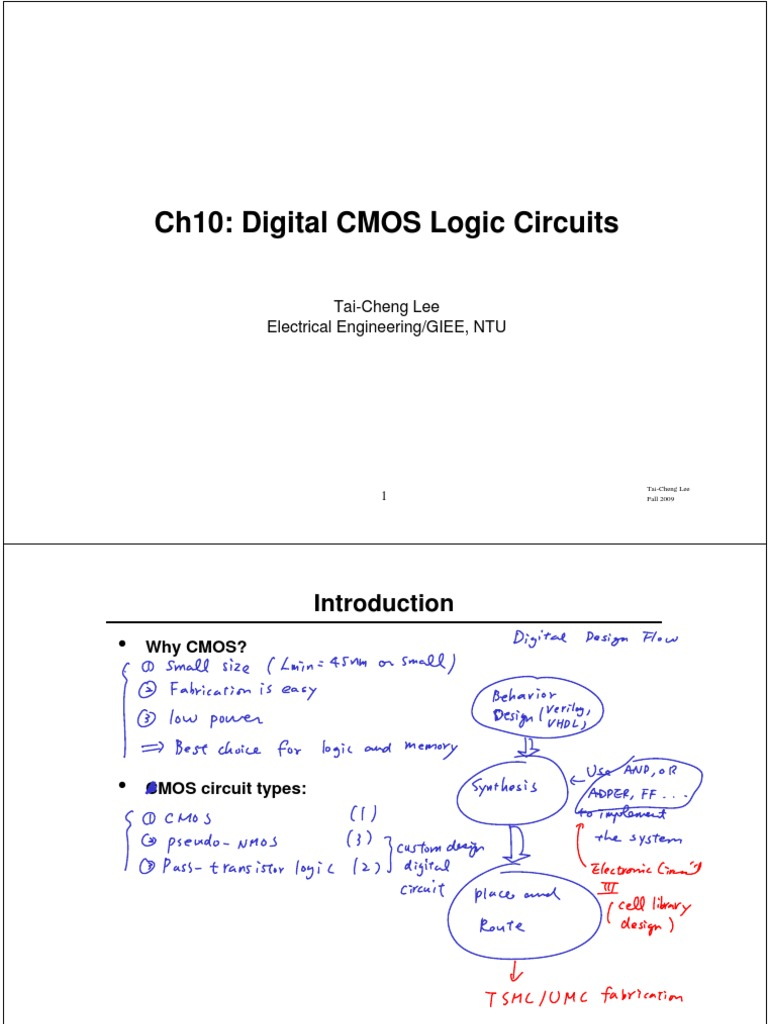 Ch10 Digital Cmos Logic Circuits Annoted Gate Circuittypes