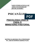 14 - Psicanálise - Psicologia Cristã Para o Ministério Pastoral - Pr. José de Barros Queiroz Filho