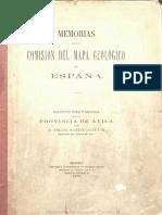 Descripción física y geológica de la provincia de Avila (1879)