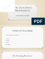 First Presentation Teaching prof
