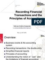 2. Recording Financial Transactions and the Principles of Accounting