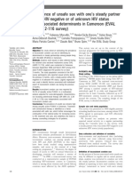 Prevalence of Unsafe Sex With One's Steady Partner Either HIV-negative or of Unknown HIV Status and Associated Determinants in Cameroon (EVAL ANRS12-116 Survey) - ProQuest
