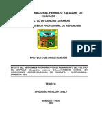Efecto Del Abonamiento Orgánico en El Rendimiento Del Cultivo de Zapallo (Cucúrbita Máxima Dutch.)Variedad Macre, En Condiciones Agroecológicas de Huarapa – Churubamba– Huanuco- 2012