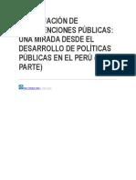 A Evaluación de Intervenciones Públicas